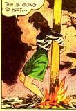 Nyoka the Jungle Girl #5 Nyoka hanging upside down: 1