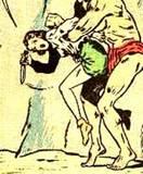 Nyoka #10 2nd story, manhandled, tied up, falling: 1