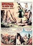 Nyoka in Master Comics #76 head KO, bondage: 1