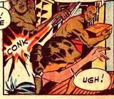 Nyoka in Master Comics #95 KO, manhandled, carried: 1