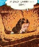 Nyoka in Master Comics #67 falling, squezzed peril: 1
