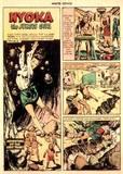 Nyoka in Master Comics #69 manhandled, peril
