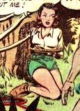Nyoka in Master Comics #77 bondage, peril: 1