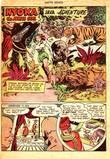 Nyoka in Master Comics #77 bondage, peril