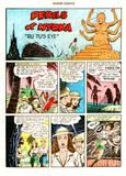 Nyoka in Master Comics #67 falling, squezzed peril