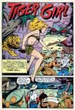Tiger Girl in Fight #45 head KO, bondage, peril