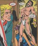 Psylocke unconscious and dragged by hair: 1