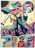 Alias X in Capt. Aero #7 - girl out cold arm carry