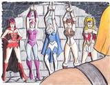 Art of Mike Powell - Power Girl unconscious (plus others): 1